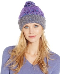 Charter Club Mixed Media Chenille Cuff Hat Only At Macy's Black