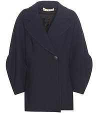 Marni Wool Coat Blue