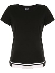Emporio Armani Ea7 Scoop Neck T Shirts Black