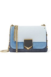 Jimmy Choo Lockett Petite Textured Leather Shoulder Bag Indigo