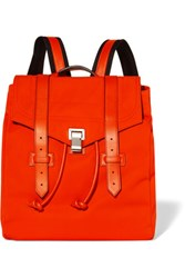 Proenza Schouler Ps1 Leather Trimmed Canvas Backpack Red