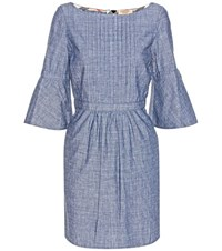 Burberry Michelle Chambray Dress Blue