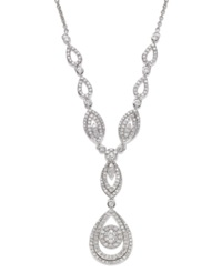 Wrapped In Love Diamond Double Drop Pendant Necklace In 14K White Gold 1 1 2 Ct. T.W.