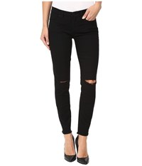 Blank Nyc Crop W Ripped Knees In Crazy Train Black Women's Jeans
