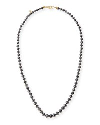 Splendid Faceted Black Diamond Bead Choker Necklace 19