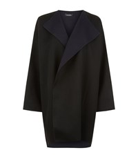 Eskandar Two Tone Cashmere Waterfall Jacket Female Black