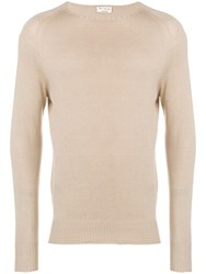 Ma'ry'ya Crew Neck Jumper Neutrals