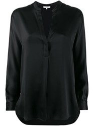 Vince Satin Blouse Black