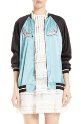Red Valentino Women's Sunset Embroidered Satin Bomber