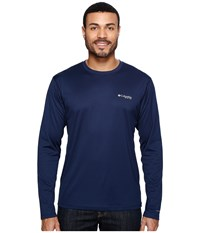 Columbia Pfg Zero Rules L S Shirt Collegiate Navy Men's Long Sleeve Pullover