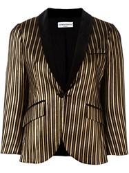 Sonia Rykiel Striped Fitted Jacket Black