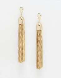 Warehouse Chain Tassle Earring Gold