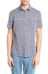 Original Penguin Men's Extra Trim Fit Stripe Woven Shirt