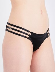 Bordelle Art Deco Brazilian Silk Satin Briefs Black
