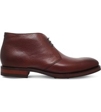 Barker Orkney Leather Chukka Boots Dark Brown