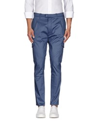H Sio Trousers Casual Trousers Men Slate Blue