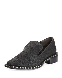 Adrianna Papell Prince Studded Leather Loafer Black