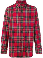 Gaelle Bonheur Checked Classic Shirt Red