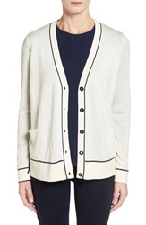 Women's Classiques Entier Tipped Silk And Cashmere Cardigan