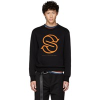 Stella Mccartney Black Monogram Ian Sweatshirt
