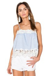 Blank Nyc Lace Cami Blue