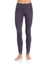 Hanro Chiara Leggings Purple Grey