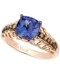 Le Vian Tanzanite 2 Ct. T.W. And Chocolate Diamond 1 5 Ct. T.W. Accent Ring In 14K Rose Gold