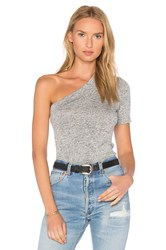 Riller And Fount Lou One Shoulder Top Gray