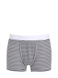 Dolce And Gabbana Striped Cotton Boxer Briefs