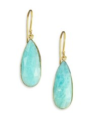 Lena Skadegard Amazonite And 18K Yellow Gold Teardrop Earrings Gold Amazonite