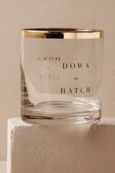 Anthropologie Gold Rimmed Down The Aisle Glass