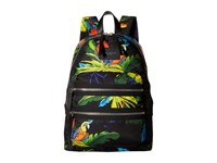 Marc Jacobs Parrot Printed Biker Backpack Black Multi Backpack Bags