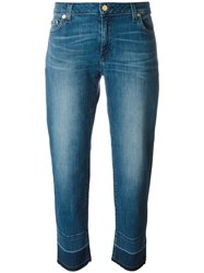 Michael Michael Kors Released Hem Straight Leg Jeans Blue