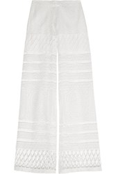 Alexis Crocheted Wide Leg Pants Ivory