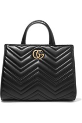 Gucci Gg Marmont Quilted Leather Tote Black