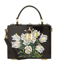 Dolce And Gabbana Plexiglass Tulip Top Handle Bag Female Black