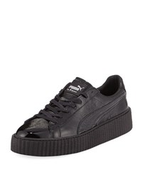 Puma X Fenty By Rihanna Men's Cracked Leather Creeper Sneaker Black