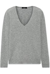 Theory Adrianna Cashmere Sweater Gray
