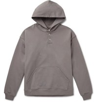 Fear Of God Oversized Loopback Cotton Jersey Hoodie Gray