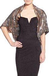 Women's Collection Xiix 'Dazzling' Sequined Shrug Metallic Gold