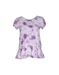Bea Yuk Mui Bea Topwear T Shirts Women Purple