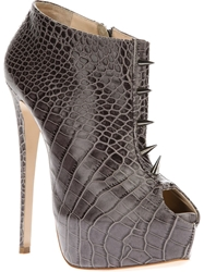 Ruthie Davis Stiletto Ankle Boot Grey
