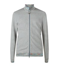 Missoni Jersey Zip Jacket Male Grey