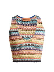 Missoni Mare Zigzag Striped Cropped Top Multi
