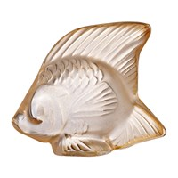 Lalique Fish Figure Gold Luster