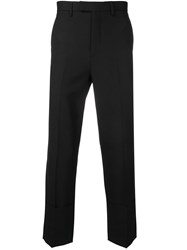 Raf Simons Cropped Tailored Trousers Black