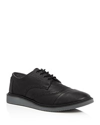 Toms Brogue Wingtip Oxfords Black