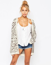 Element Fair Isle Festival Cardigan Cream