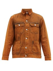 Schnayderman's Patch Pocket Denim Jacket Dark Orange