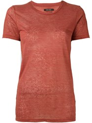 Isabel Marant 'Madras' T Shirt Red